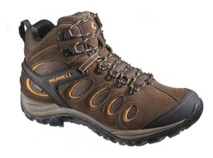 Merrell Mens CHAM 5 MID Hiking Shoes